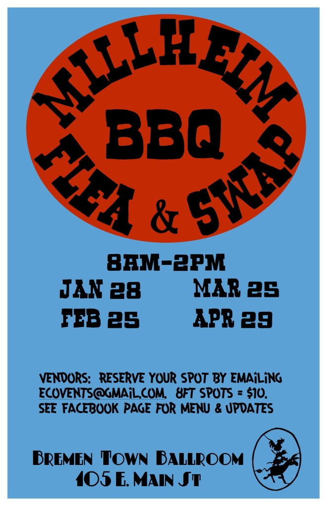 Millheim BBQ Flea and Swap poster jpg