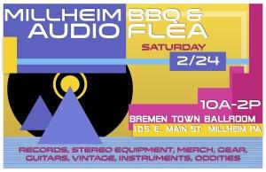 Millheim Audio Flea Poster jpg